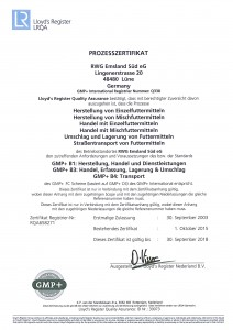 Zertifikat GMP